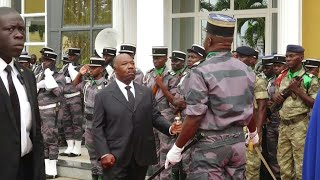 President Ali Bongo of Gabon makes his first live appearance in