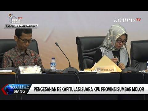 Pengesahan Rekapitulasi Suara KPU Provinsi Sumbar Molor