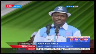 NASA Co-principal Kalonzo Musyoka's full speech at Kisii Stadium