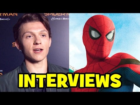 SPIDER-MAN HOMECOMING Trailer Launch CinemaCon Interviews - Tom Holland, Kevin Feige, Jon Watts
