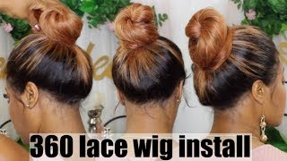 360 LACE FRONTAL WIG INSTALL | BACK OF LACE WIG INSTALL