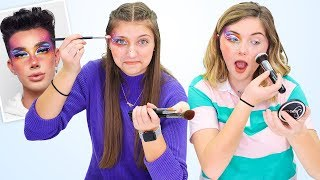 we tried following a James Charles makeup tutorial??
