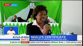 Charity Ngilu recieves gubernatorial certificate for Kitui County