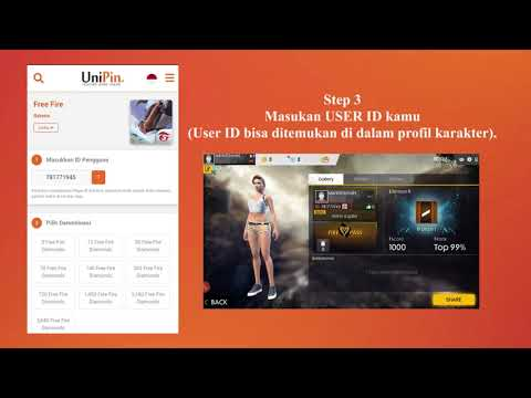 Top Up Guide UniPin Indonesia - via GOPAY