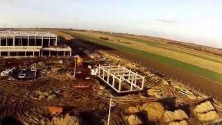 preview picture of video 'Pyskowice powietrzny rajd po budowie Rossmann cz. 3'