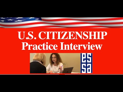 2020 Practice Interview U.S. Citizenship Test - YouTube