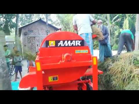 Engine Model Paddy Rice Thresher