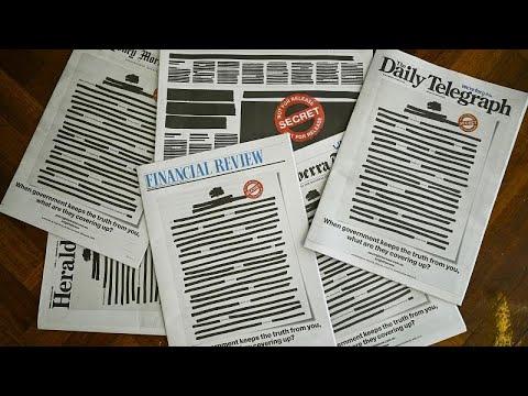 Με…λογοκριμένα πρωτοσέλιδα οι εφημερίδες της Αυστραλίας…