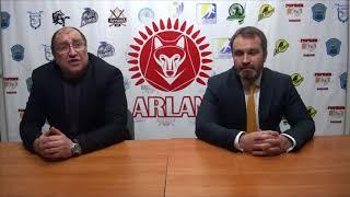 Пресс-конференция ХК« Арлан» -ХК «Темиртау» (счет в серии 1-1)