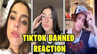 TikTokers React to TikTok Getting BANNED (Charli D'amelio, Addison Rae, Lil Huddy)