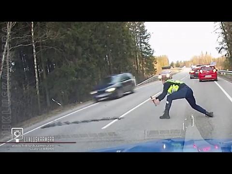 Метание ежа эстонской полицией