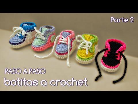 d4e409ebc Cómo tejer zapatitos botitas escarpines bebé crochet
