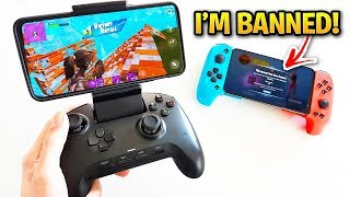 I CHEATED Using BANNED Controllers On Fortnite Mobile