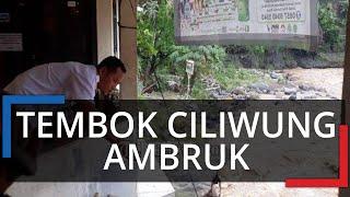 Detik-detik Tembok Dekat Sungai Ciliwung Roboh dan Satu Rumah Terancam Ambruk, Awalnya Jatuh Sedikit