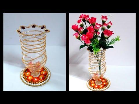 How To Make Flower Vase With Plastic Bottle Plastic Bottle Flower