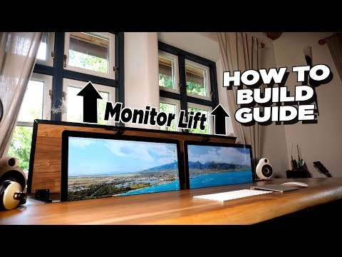 DIY Schreibtisch mit dualem Monitor Lift - Bauanleitung | Tips, Tricks & More