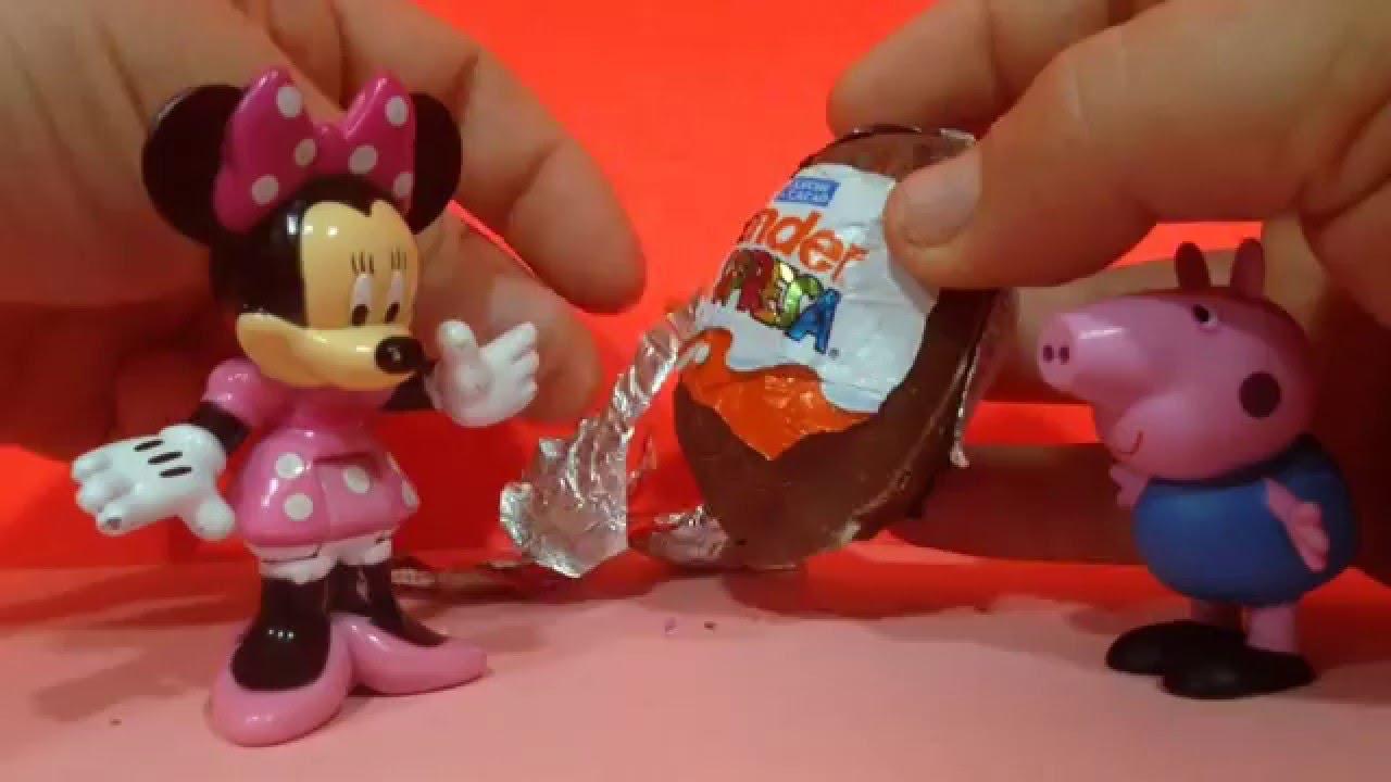 Peppa Pig abre un HUEVO SORPRESA con Minnie Mouse