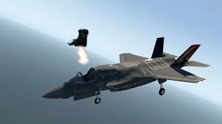 F-35 Seat Ejection In MID-AIR