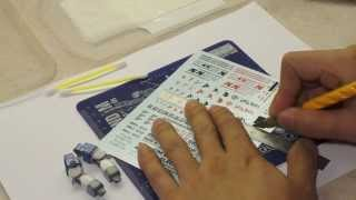 How To Apply Water Slide Decals To Gundam Model Kit