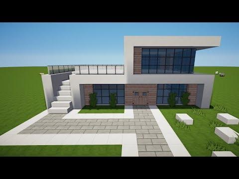 Wie Baut Man Ein Strandhaus In Minecraft Minecraft Strandhaus Bauen - Minecraft modernes haus bauen part 1