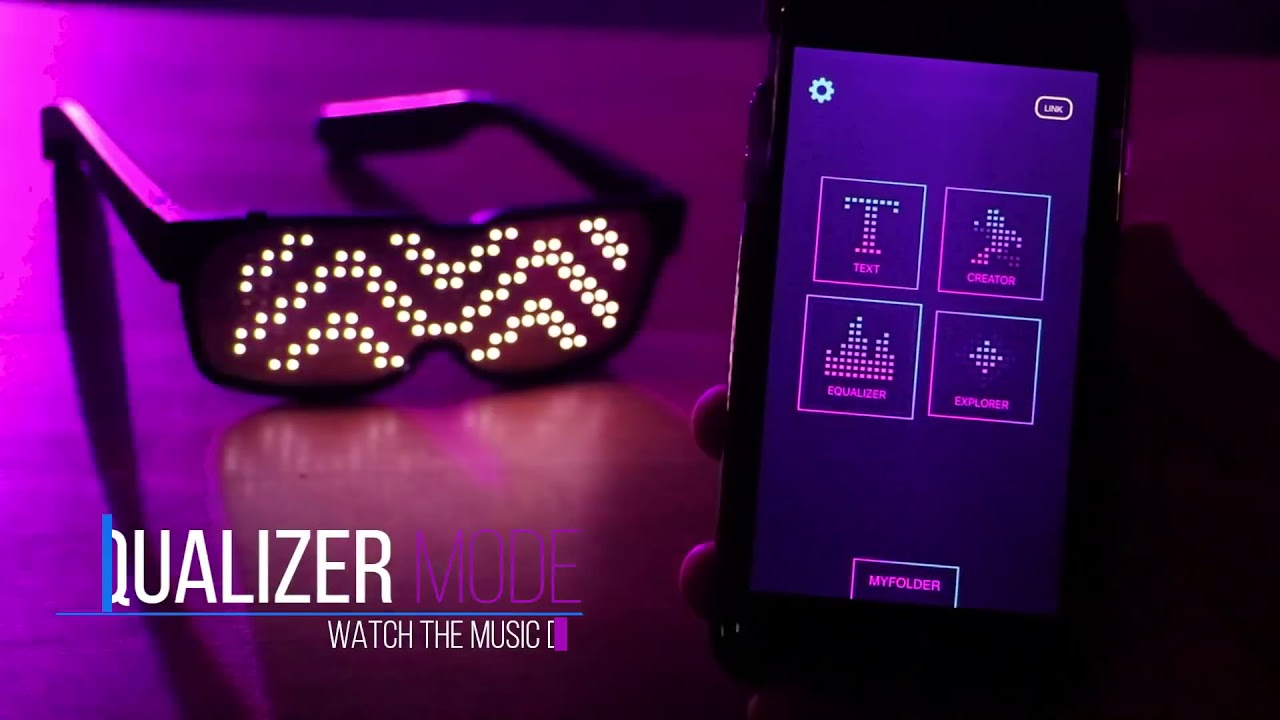 Chemion LED Bluetooth Briller Partyking.no