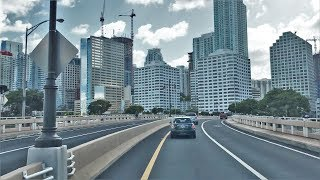 Driving Downtown - Miami's Skyscrapers 4K - USA