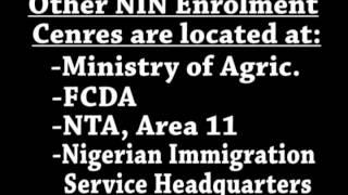 Pidgin Jingle: Enrolment Centres In & Around Abuja