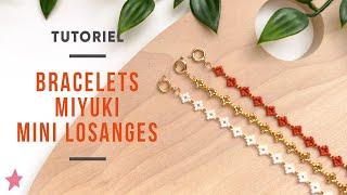 DIY   Faire Un Bracelet En Perles Miyuki Losanges Ou Marguerites