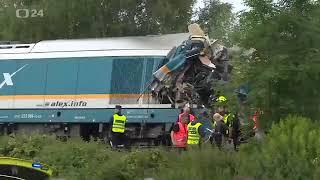 В Чехии столкнулись два поезда: трое погибших, около 50 человек ранены