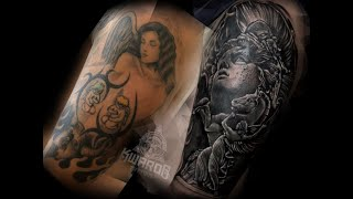 TATTOO COVER UP | BLACK AND GREY