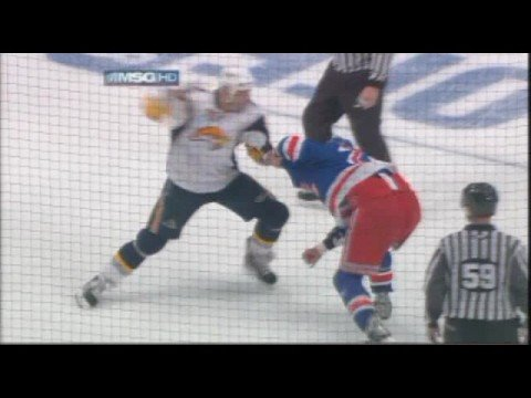Colton Orr vs. Andrew Peters