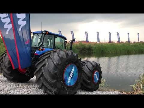 Floating Tractor at 2018 Farm Progress Show Part 2: Mitas Ag Tires