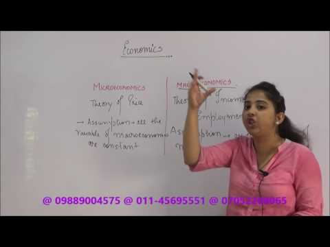 Class 12 : Economics : Difference : Micro & Macro Economics : Quick Revision