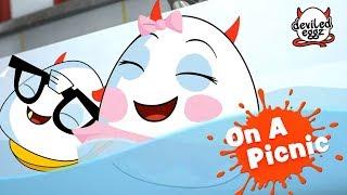 On A Picnic | Мультфильмы | Смешные яйца | Детское видео | Deviled Eggz Episode