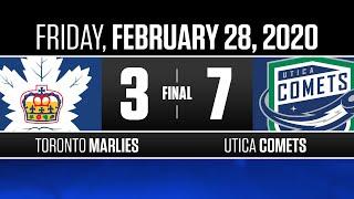 Marlies vs. Comets | Feb. 28, 2020