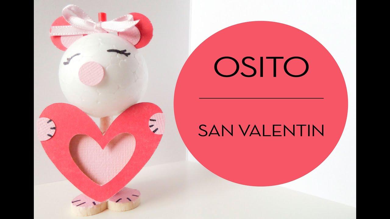 Osito caramelo San Valentín. Detalle para regalar.