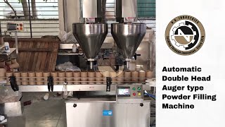 Double Head Auger Powder Filling Machine