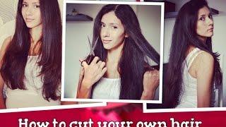 Смотреть онлайн Удобный способ подстричь каскад самой себе