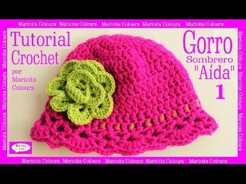 Gorro Sombrero a Crochet