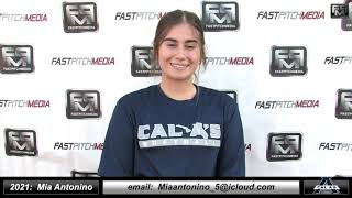 2021 Mia Antonino Athletic Middle Infielder Softball Skills Video - Cal A's Carter/Heen