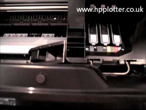 HP Designjet T1300 printer - how to replace a print head
