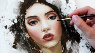 EASY BEGINNER PAINTING TUTORIAL! // How to paint a Portrait with Oils?