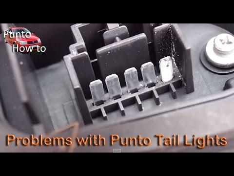 Fiat Punto Tail Light Faults, Flashing