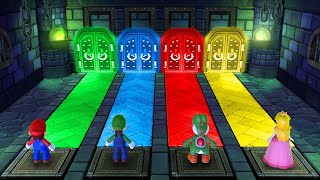 Mario Party 10 MiniGames - Mario Vs Luigi Vs Peach Vs Yoshi (Master Difficulty)