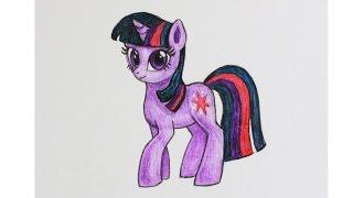 Уроки рисования. Как нарисовать пони принцессу ИСКОРКУ how to draw pony princess   Art School