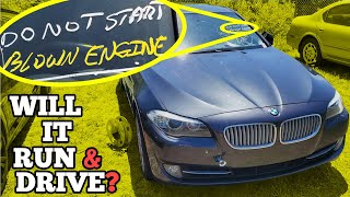 I Bought a Cheap Twin Turbo V8 BMW at Auction with a Strange Message on the Windshield