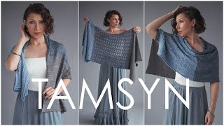 Tamsyn Shawl - Choose Your Skill Level! Easy Beginner Through Advanced Knitting Pattern