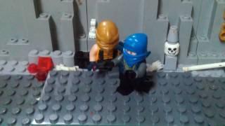 Лего мультфильм Бой Мortal Kombat X   Sab-ziro vs Scorpion