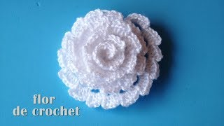DIY - Lindisima flor facilisima de crochet DIY - Beautiful and easy crochet flower