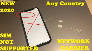 Network Unlock 2020!! FREE All Models iPhone Any Country Sim/Carrier 100% Unlock